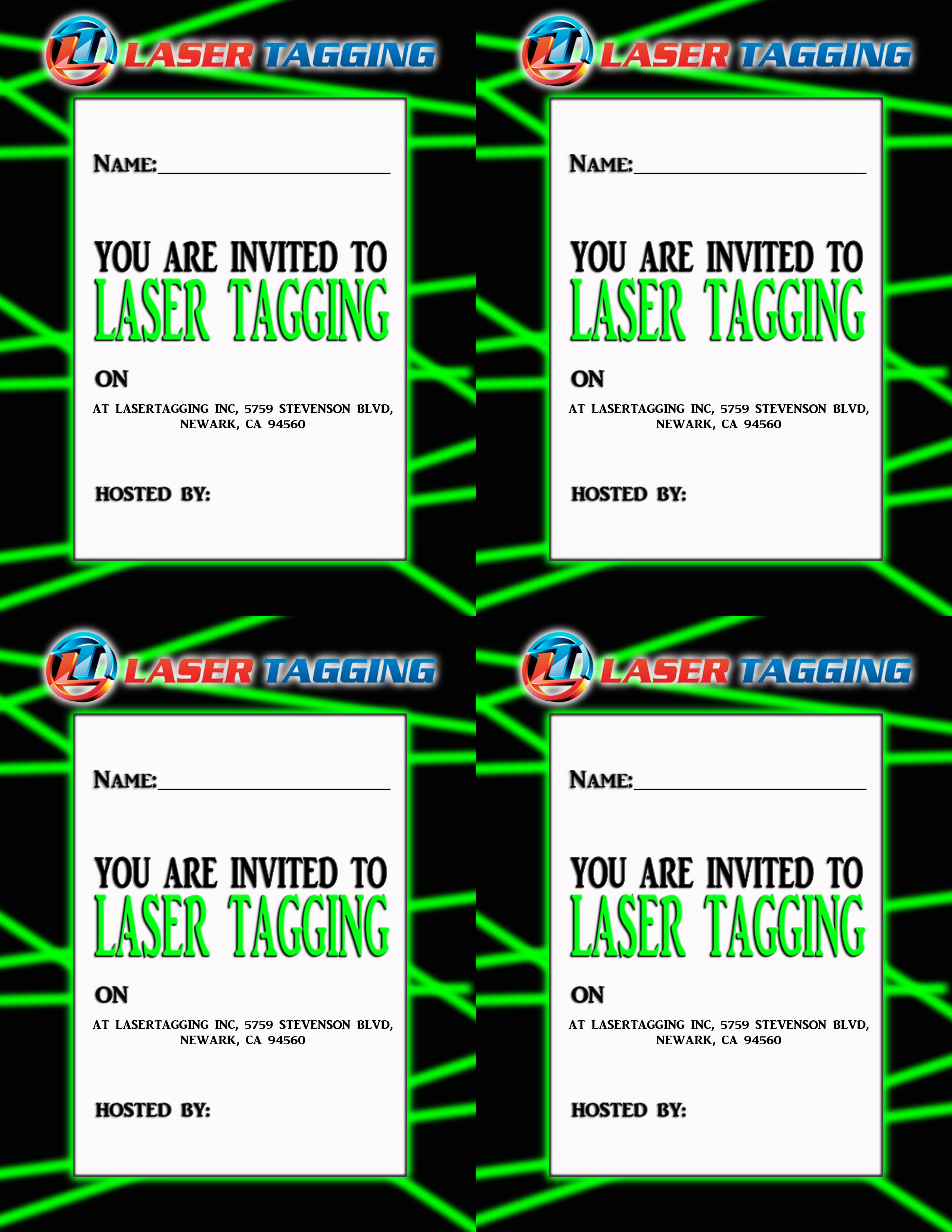 Dynamite image intended for laser tag birthday invitations free printable